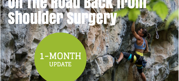 1 month shoulder surgery update