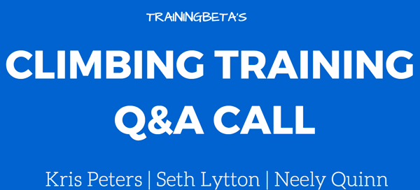 climbing training q&a call
