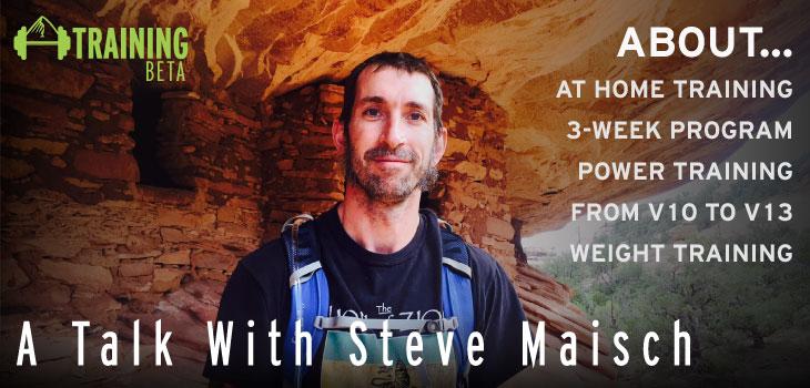 Steve Maisch climbing training