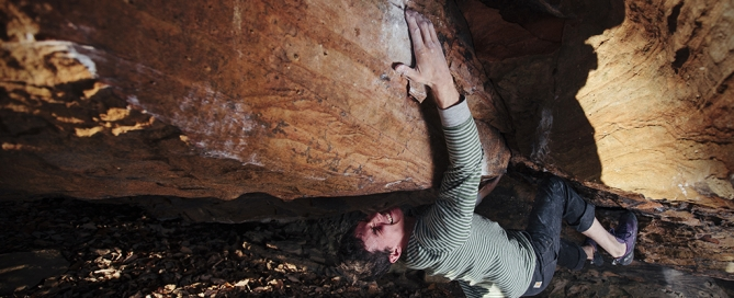 Photo Credit: John Wesely; @lightningsnaps; Area: Citadel, KY; Climb: Afterbirth; Climber: Hal Garner