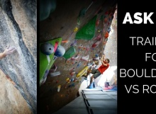 training for bouldering vs routes