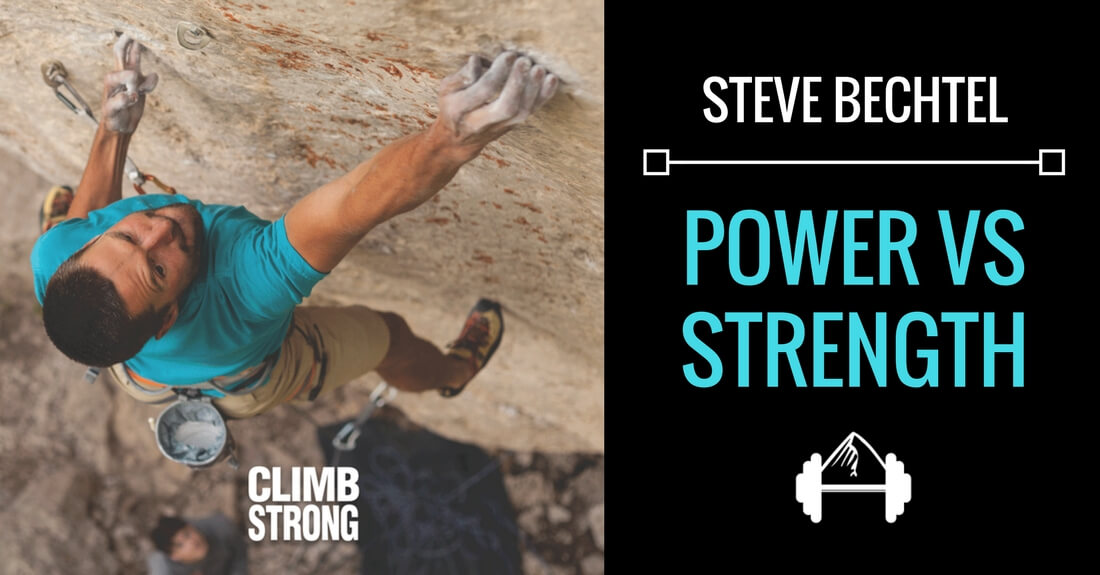 Steve Bechtel: Power vs Strength - Training for Rock Climbing