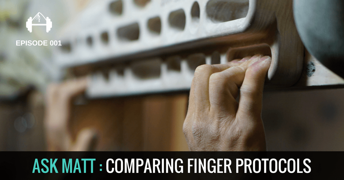 COMPARING finger training protocols