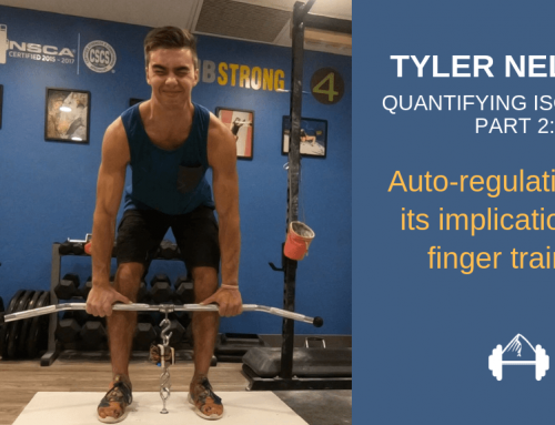 Quantifying Isometrics Part 2: Program Auto-Regulation and Its Implications on Finger Training