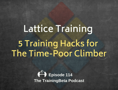 TBP 114 :: Lattice Training – 5 Training Hacks for The Time-Poor Climber